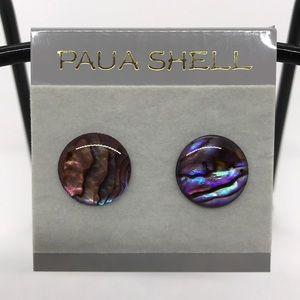 3/$20 SALE Paua Shell Stud Earrings